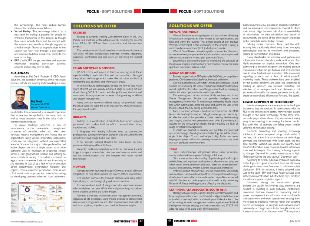 Technology: Reshaping India - Construction Times